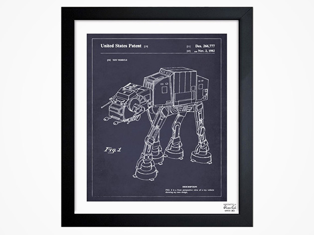 'Toy Vehicle, 1982' Framed Blueprint Wall Art