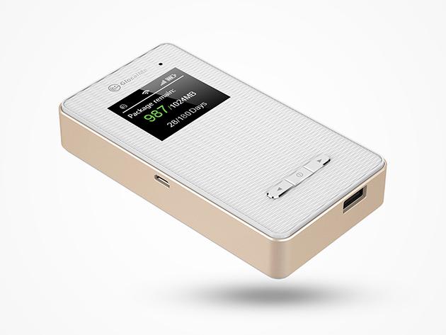 GlocalMe Global Wi-Fi Hotspot Battery Pack & 1 GB Data